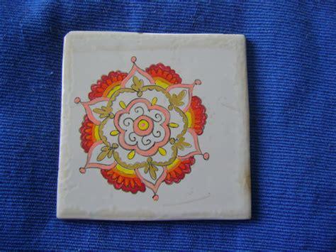 pittura su piastrelle mandala piastrelle dipinte a mano piastrelle dipinte
