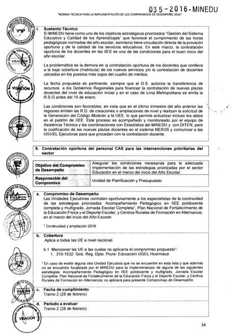 norma tecnica de contrato docente 2016 norma tecnica compromisos de desempe 209 o 2016
