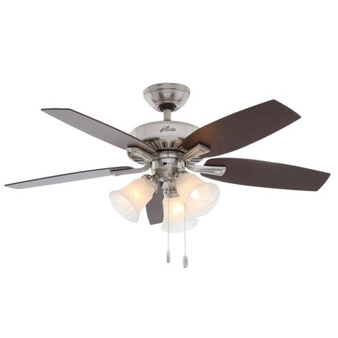 hunter fan replacement blades hunter caraway 44 in indoor brushed nickel ceiling fan