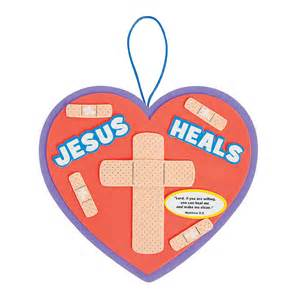jesus heals sign craft kit oriental trading