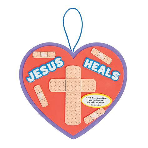 jesus crafts for jesus heals sign craft kit trading