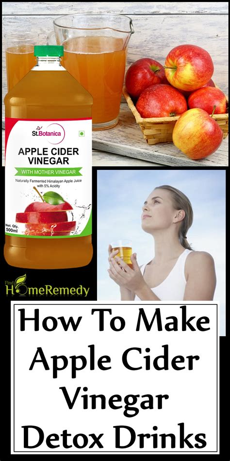 Apple Cider Vinegar For Detox by How To Make Apple Cider Vinegar Detox Drinks Find Home