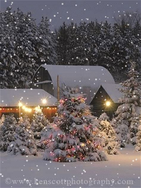 White Barn Candle Winter Cabin by Joyeux Noel Chezmariefil