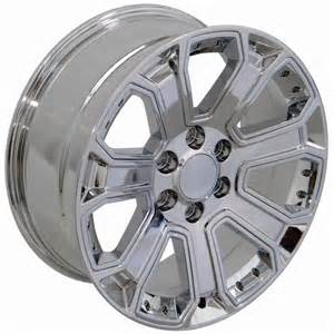 chevrolet silverado chrome wheel replica cv93 22x9