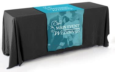 custom logo table runners 28 quot wide