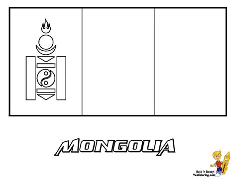 mongolia flag free colouring pages