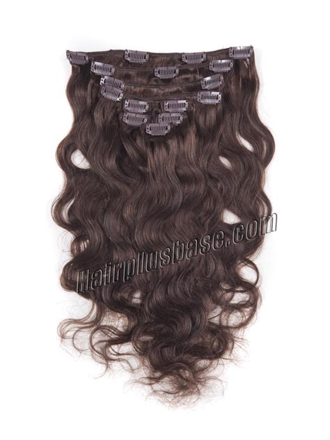 Medium Chocolate Brown Hair Extensions Remy Indian Hair 22 Inch 165g 4 Medium Brown Clip In Indian Remy Human Hair Extensions Wave 11 Pcs