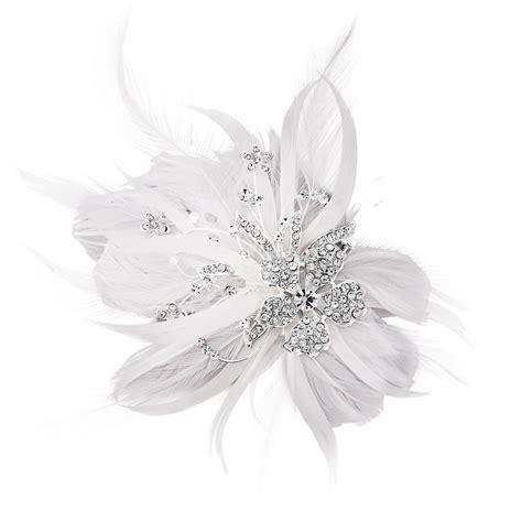 Wedding Crocodile Clip by Seraphina Feather Bridal Clip Bridal Jewellery