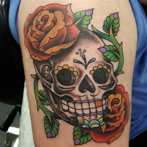 sugar skull and rose tattoo 125 best sugar skull designs meaning 2019
