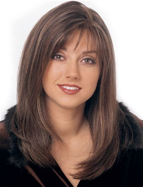 light and wispy bob haircuts long straight with wispy bangs monofilament top full lace