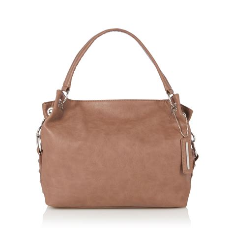Stud Style Bag 7 herring womens taupe stud detail shoulder bag from debenhams ebay