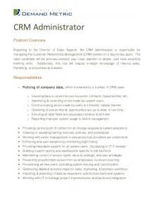 Crm Description crm administrator description
