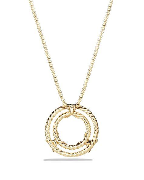 david yurman x pendant necklace with diamonds in 18k