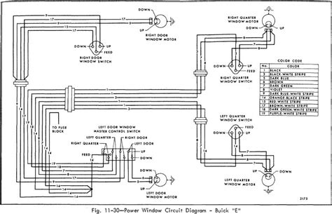 power window circuit diagram of 1966 buick 49000 series