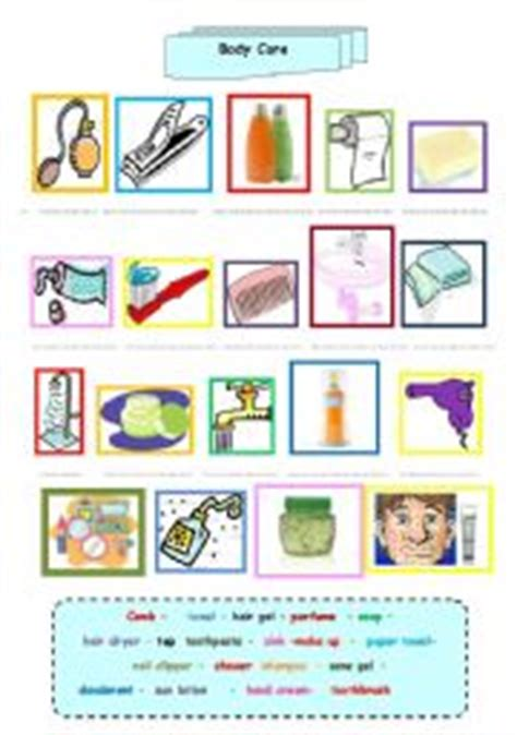 hair care vocabulary worksheet care