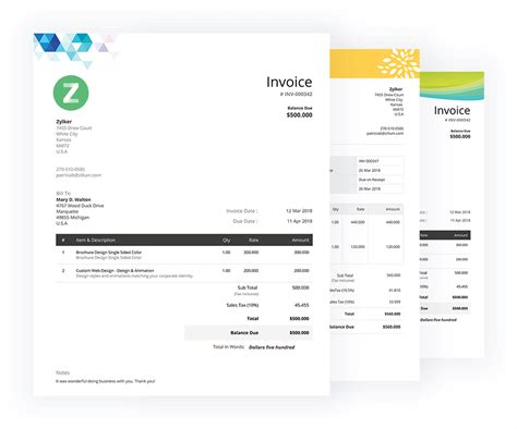 Free Invoice Templates Download Invoice Template Zoho Invoice Zoho Creator Page Templates