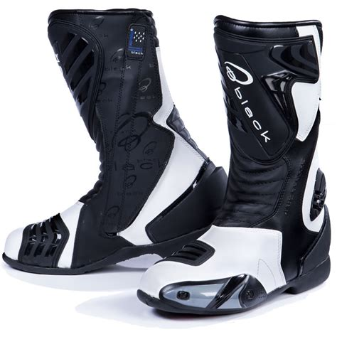 motorcycle track boots black zero waterproof sport racing motorcycle motorbike