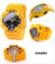 G Shock Kanvas Ga 100 Green Yellow casio g shock ga 100 1a1er series shock water resistant gents sports ebay