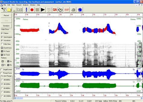 voice pattern analysis software speech studio interface