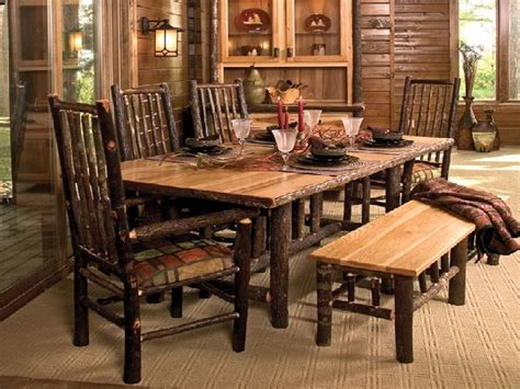 rustic dining room table with bench marceladick