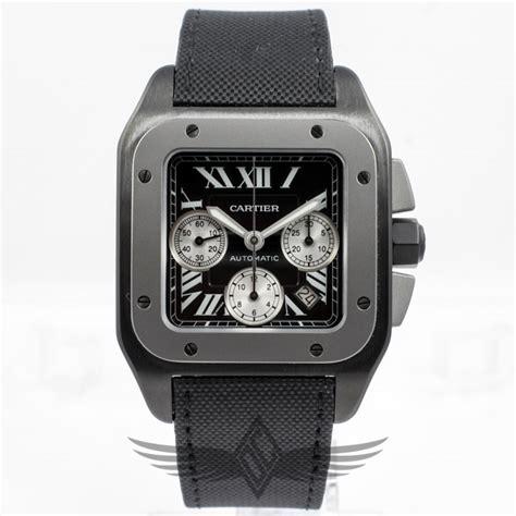 Cartier Santos 100xl cartier santos 100 xl titanium pvd automatic chronograph