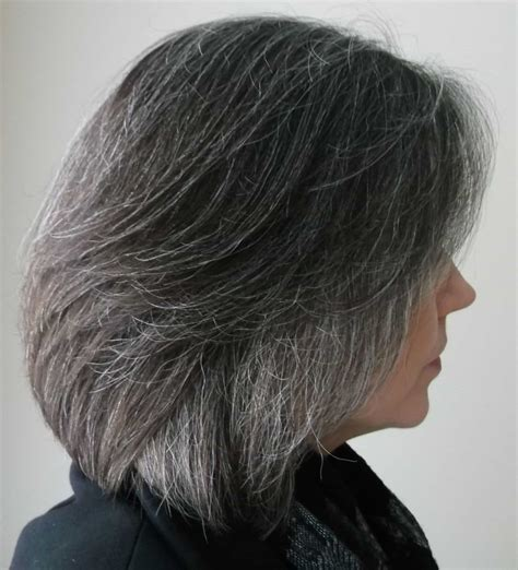 hispanic grey hair transition grey highlights while hair turning grey dark brown hairs