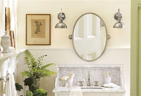 how to choose a wall color in the bathroom pottery barn