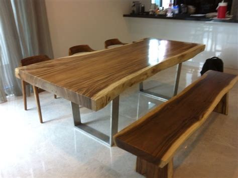 Meja Dispenser Nakas Side Table Meja Minimalis solid wood dinning table with stainless legs cambium furniture we make solid wood furnitures