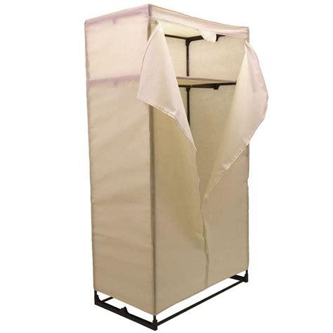 clothes cupboard double wardrobe coloured canvas rail bedroom storage