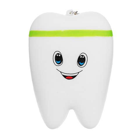 Squishy Smile Teeth 10 5cm squishy teeth rising toys phone pendant scented alex nld
