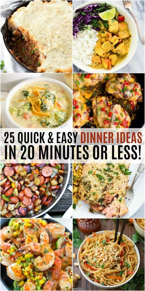 25 easy dinner recipes 25 and easy dinner ideas in 20 minutes or less real housemoms