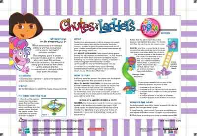 printable directions for chutes and ladders game hasbro chutes and ladders dora the explorer toy game