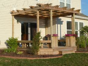 Building An Arbor Over A Patio Deck And Pergola