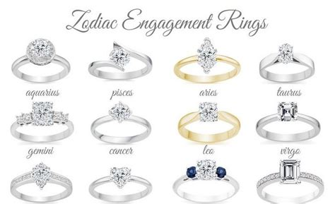 Wedding Zodiac by Engagement Rings Zodiac Engagement Rings With