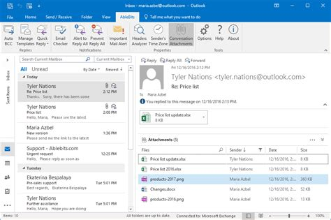 Outlook Search For Emails With Attachments Conversation Attachments Outlook Add In By Ablebits