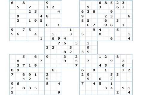 printable triple sudoku puzzles samurai sudoku