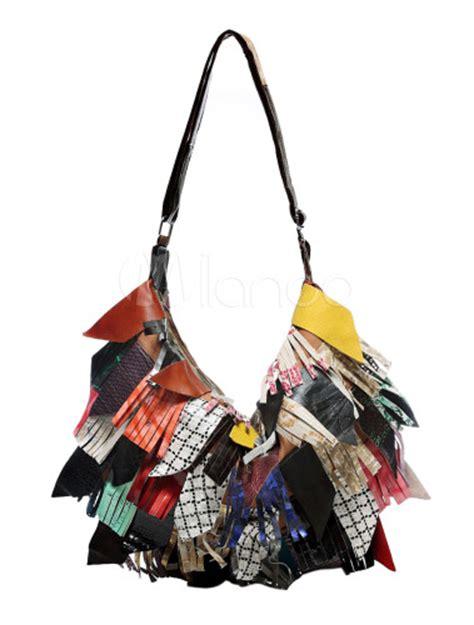 patchwork moderne sac 224 bandouli 232 re moderne patchwork en cuir 224 zip
