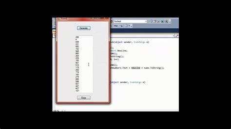 design form in c create 100 random numbers using a random number generator