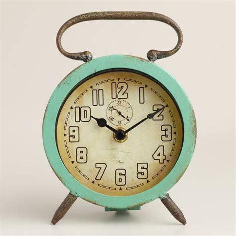 Retro Desk Clock by Aqua Retro Avery Desk Clock World Market