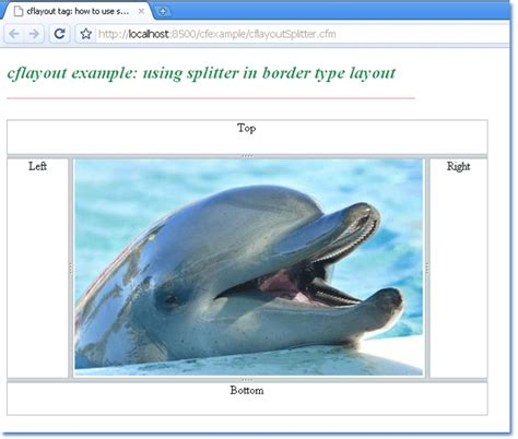 html layout splitter how to use splitter in a border type layout in coldfusion