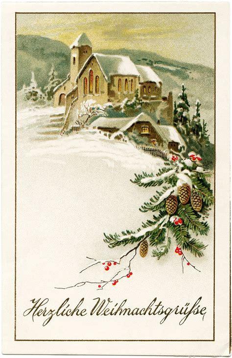german christmas postcardwarm christmas  vintage christmas cards christmas