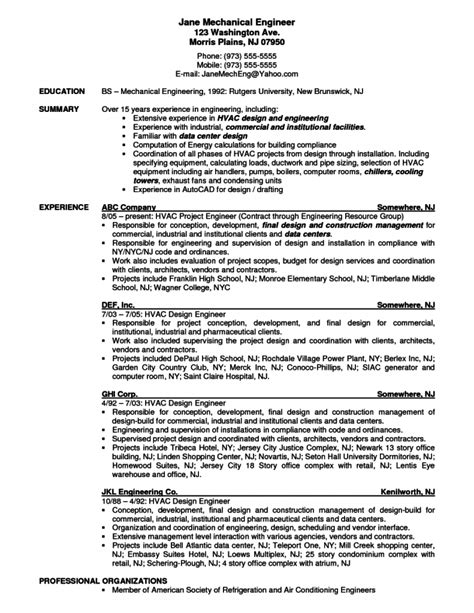 Resume Objective Exles Engineering Intern 100 mechanical engineering resume objective
