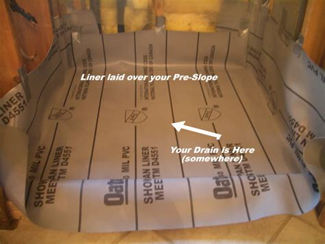 How To Install A Shower Pan Liner by Shower Floor Liner Membrane Meze