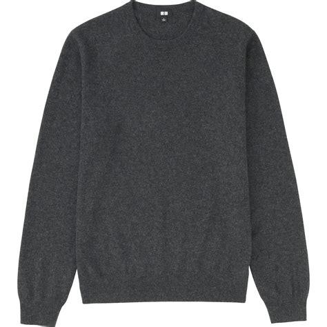 Uniqlo Mens Sweatpants Grey Original uniqlo crew neck sweater in gray for gray lyst