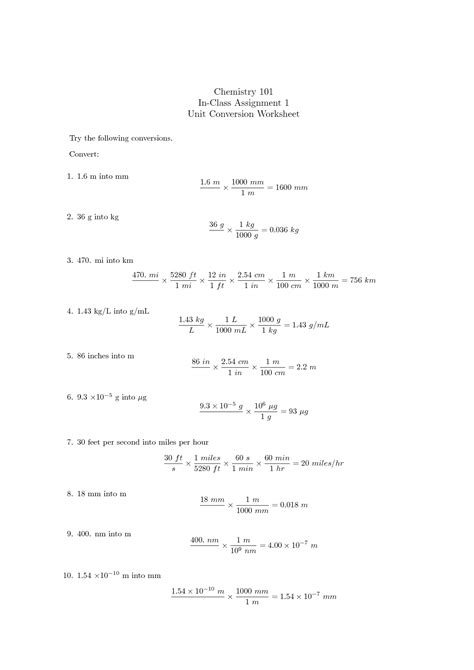 Chemistry Conversions Worksheet by 15 Best Images Of Chemistry Unit 5 Worksheet 1 Chemistry