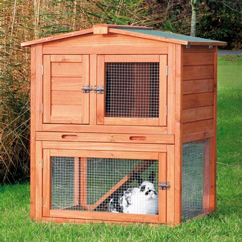 trixie natura pitched roof dog house petco trixie natura two story animal hutch with gabled roof petco