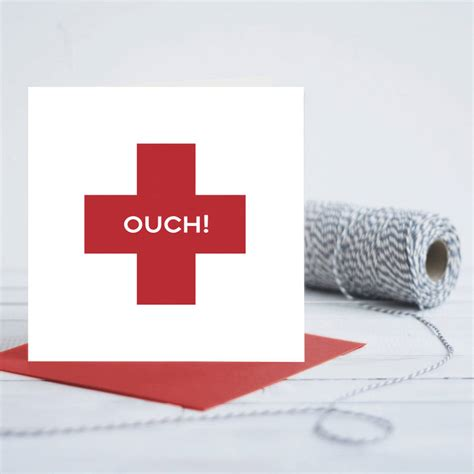 Red Cross Gift Card - get well soon red cross card by quirky gift library notonthehighstreet com