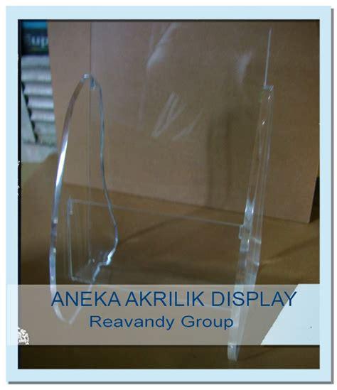 Acrylic Tempat Brosur Meja 3 akrilik 5 mm kantong 3 mm clear