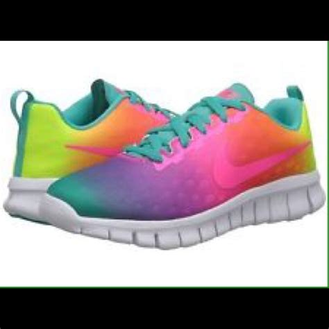 rainbow nike sneakers my new babies nike free 5 0 rainbow ombre 6 from zoey s
