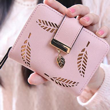 Leaf Wallet Pink s leaf design small wallet clutch bag pink